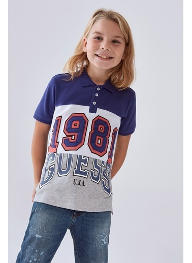 Guess Erkek Çocuk Lacivert Polo T-Shirt Lacivert